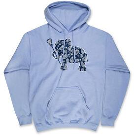 Girls Lacrosse Standard Sweatshirt Lax Elephant