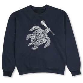 Girls Lacrosse Crew Neck Sweatshirt - Lax Turtle