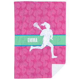 Girls Lacrosse Premium Blanket - Personalized Chill Lacrosse