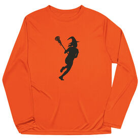 Girls Lacrosse Long Sleeve Performance Tee - Lax Witch