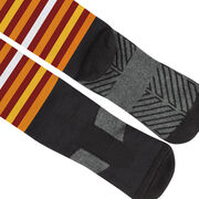 Girls Lacrosse Printed Knee-High Socks - Lax Now Gobble Later