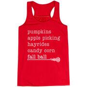 Girls Lacrosse Flowy Racerback Tank Top - Favorite Fall Things
