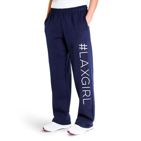 Girls Lacrosse Fleece Sweatpants - #LAXGIRL