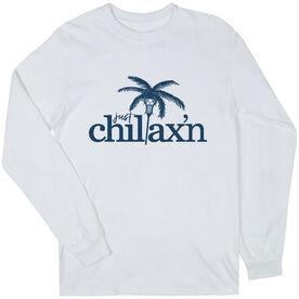 Lacrosse Long Sleeve T-Shirt - Just Chillax'n