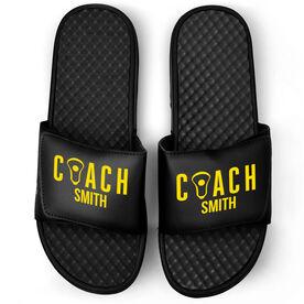 Girls Lacrosse Black Slide Sandals - Coach