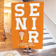 Girls Lacrosse Premium Blanket - Personalized Senior