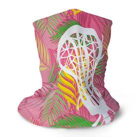 Girls Lacrosse Multifunctional Headwear - Pink Palm Fronds RokBAND