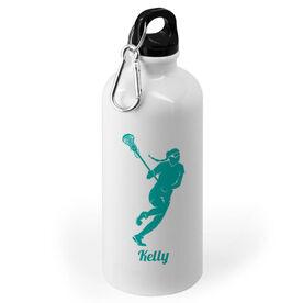 Girls Lacrosse 20 oz. Stainless Steel Water Bottle - Lacrosse Player Silhouette