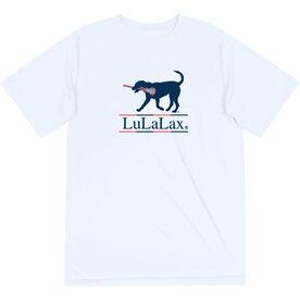 Girls Lacrosse Short Sleeve Performance Tee - LuLaLax Logo