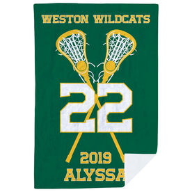 Girls Lacrosse Premium Blanket - Personalized Team with Crossed Sticks e4fe5484b