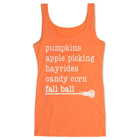 Girls Lacrosse Women's Athletic Tank Top - Favorite Fall Things