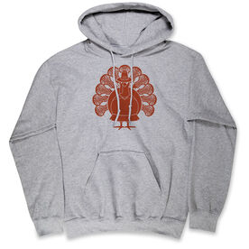 Girls Lacrosse Hooded Sweatshirt - Turkey Player