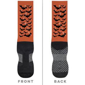 Lacrosse Printed Mid-Calf Socks - Bats with Lacrosse Sticks
