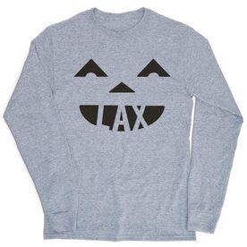 Lacrosse Tshirt Long Sleeve - Pumpkin Lax
