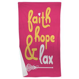 Lacrosse Beach Towel Faith Hope & Lax