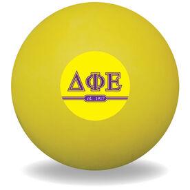 Personalized Sorority Ball Lacrosse Ball (Yellow Ball)