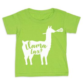 Girls Lacrosse Toddler Short Sleeve Tee - Llama Lax