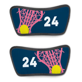 Girls Lacrosse Repwell™ Sandal Straps - Stick and Number Reflected