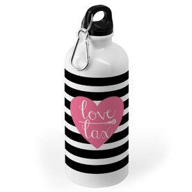 Girls Lacrosse 20 oz. Stainless Steel Water Bottle - Love Lax Heart