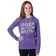 Girls Lacrosse Lightweight Hoodie - Lax Hair Don't Care