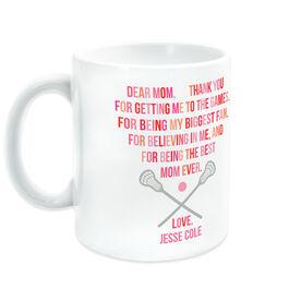 Lacrosse Coffee Mug - Dear Mom Heart