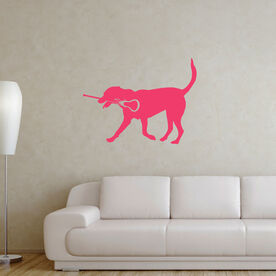 Girls Lacrosse Removable LuLaGraphix Wall Decal LuLa the Lax Dog