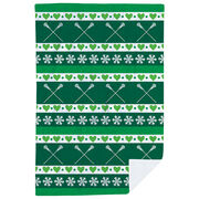 Girls Lacrosse Premium Blanket - Christmas Sweater