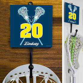 Lacrosse Hook Personalized Crossed Girl Sticks