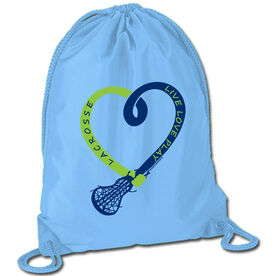 Lacrosse Sport Pack Cinch Sack Live Love Play Lacrosse