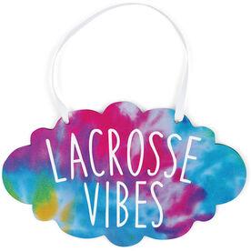 Girls Lacrosse Cloud Sign - Lacrosse Vibes