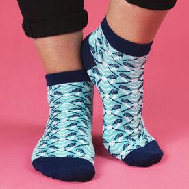 Girls Lacrosse Ankle Socks - Lax My Heart