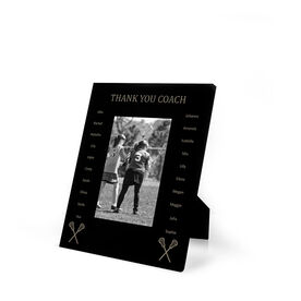 Girls Lacrosse Engraved Picture Frame - Team Name with Roster (Coach)