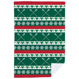 Girls Lacrosse Premium Blanket - Christmas Sweater