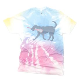 Girls Lacrosse Short Sleeve T-Shirt - LuLa the Lax Dog Tie-Dye