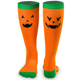 Yakety Yak Knee High Socks - Jack-o-Lantern