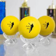 Personalized Lacrosse 'GIRL' Ball (Yellow Ball)