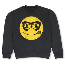 Girls Lacrosse Crew Neck Sweatshirt - Lacrosse Smiley Face
