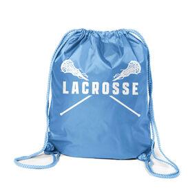 Girls Lacrosse Sport Pack Cinch Sack - Lacrosse Crossed Girls Sticks