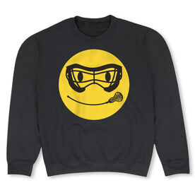 Girls Lacrosse Crew Neck Sweatshirt - Lacrosse Smiley Face