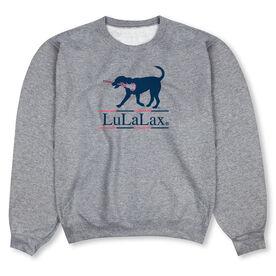 Girls Lacrosse Crew Neck Sweatshirt - LuLaLax Logo
