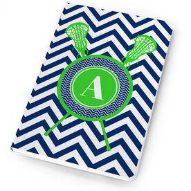 Girls Lacrosse Notebook Single Letter Monogram