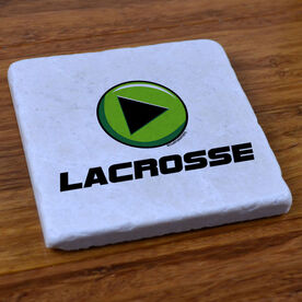 PLAY Lacrosse - Natural Stone Coaster