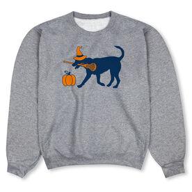 Girls Lacrosse Crew Neck Sweatshirt - Lula Witch Dog