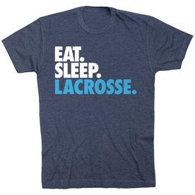 Lacrosse Short Sleeve T-Shirt - Eat. Sleep. Lacrosse. [Navy/Youth Small] - SS
