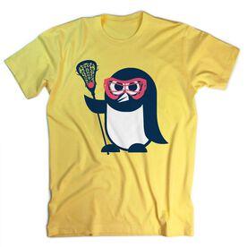 Girls Lacrosse T-Shirt Short Sleeve Penguin