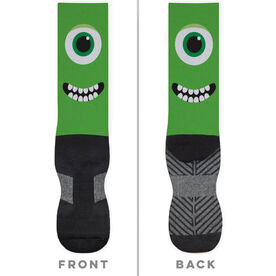 Printed Mid-Calf Socks - Monster Eyes