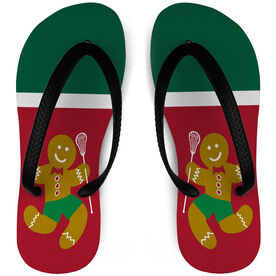 Girls Lacrosse Flip Flop Lax Gingerbread