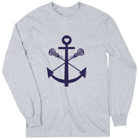 Girls Lacrosse Long Sleeve T-Shirt - Lacrosse Sticks Anchor