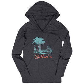 Women's Lacrosse Lightweight Performance Hoodie Chillax'n Beach Girl