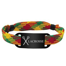 Lacrosse Shooting String Bracelet Crossed Sticks and Lacrosse Adjustable Shooter Bracelet
